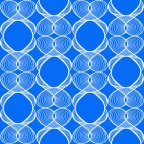 Cobalt Vibes by Marjorie Henderson. Designed for fabric.