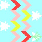 Multi Chevron by Marjorie Henderson. Designed for fabric.