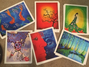 Pile o' prints! All prints of original paintings by Marjorie Henderson.