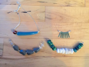 Fresh necklace pieces by Marjorie Henderson.