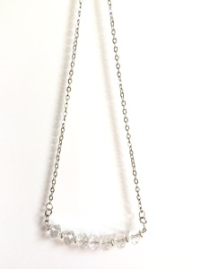 Dainty Faceted Glass Necklace by Marjorie Henderson