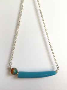 Resin and Glass Beaded Necklace by Marjorie Henderson